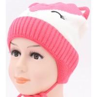 Детская вязаная шапка Лисичка D42627-46-50