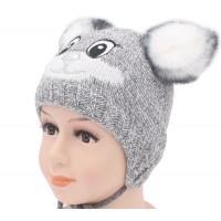 Детская вязаная шапка D43026-46-50
