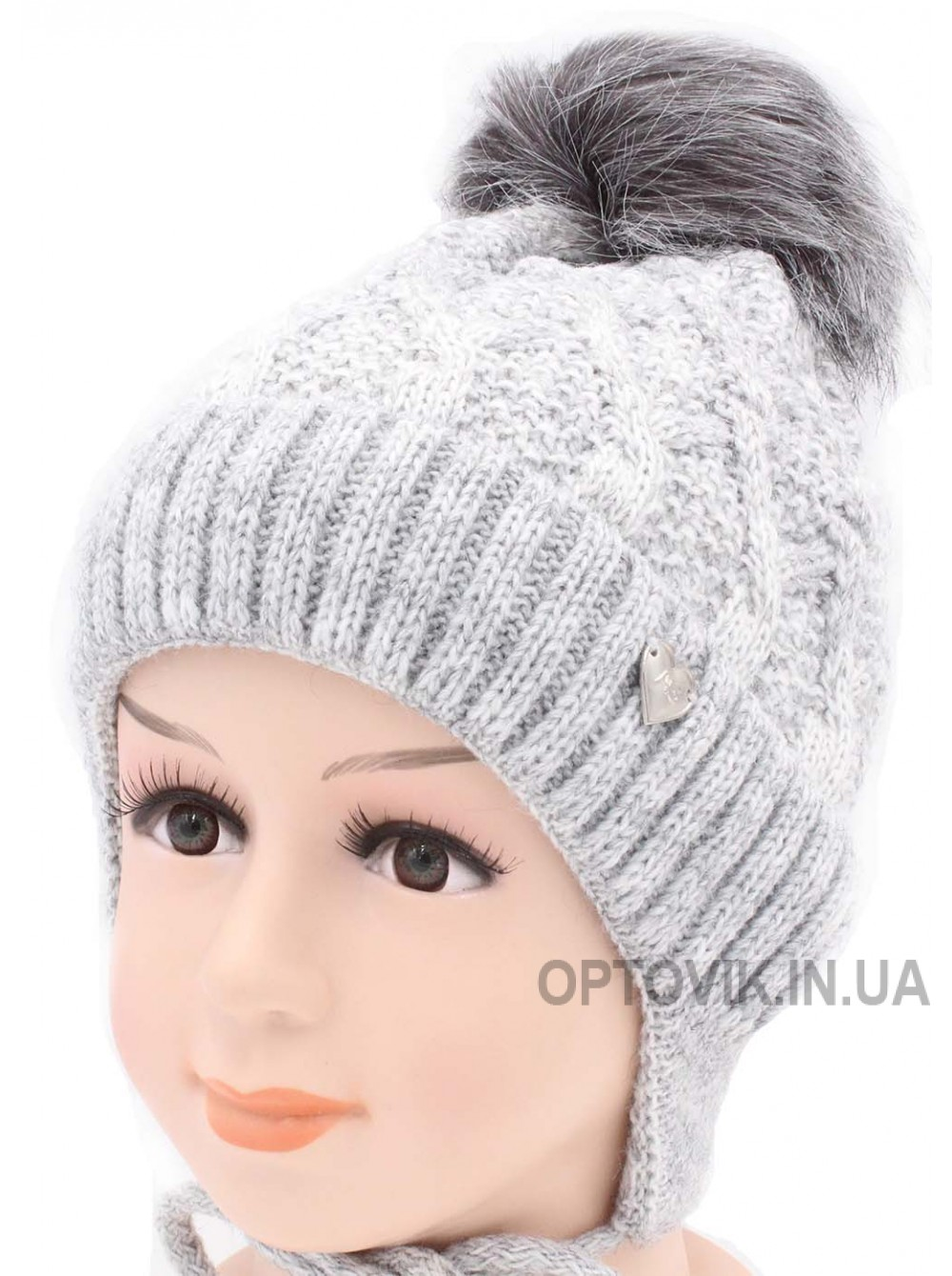 Детская вязаная шапка Зоряна D45928-48-52