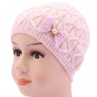 Детская вязаная шапка Бантик DV1720-46-50