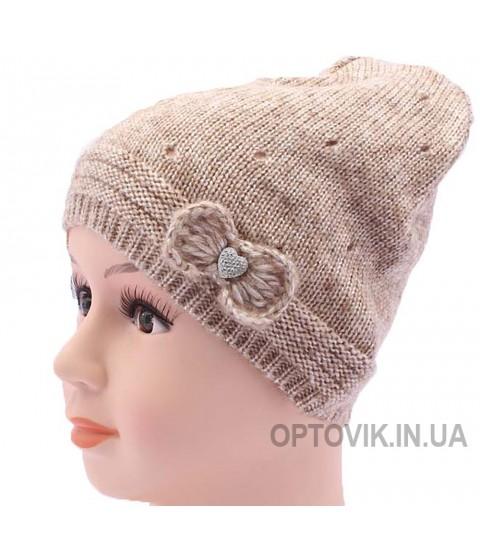 Детская вязаная шапка Капельки DV520-46-50