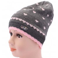 Детская вязаная шапка Сердечко DV818-46-50