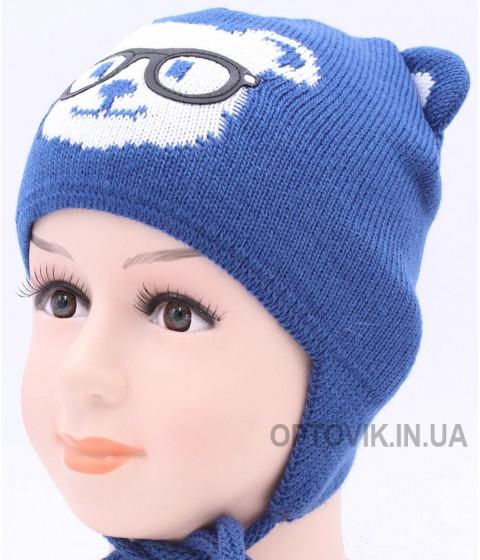 Детская вязаная шапка Мишка D40326-46-48