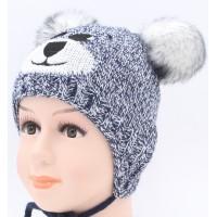 Детская вязаная шапка Тедди  D42127-46-50
