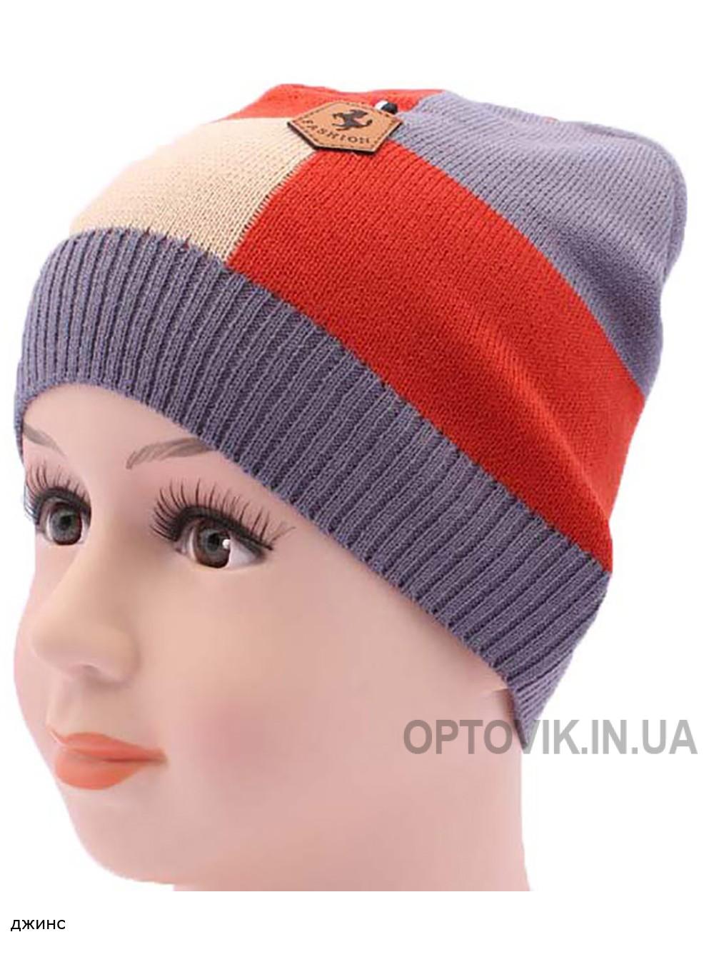Детская вязаная шапка Квадратик DV1818-46-50