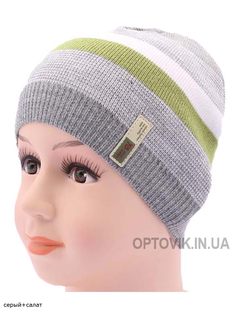 Детская вязаная шапка Полоски DV1917-46-50