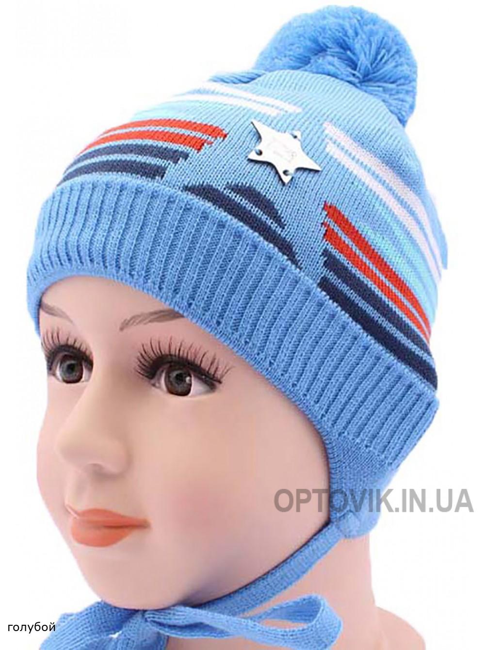 Детская вязаная шапка Шериф DV2217-44-48