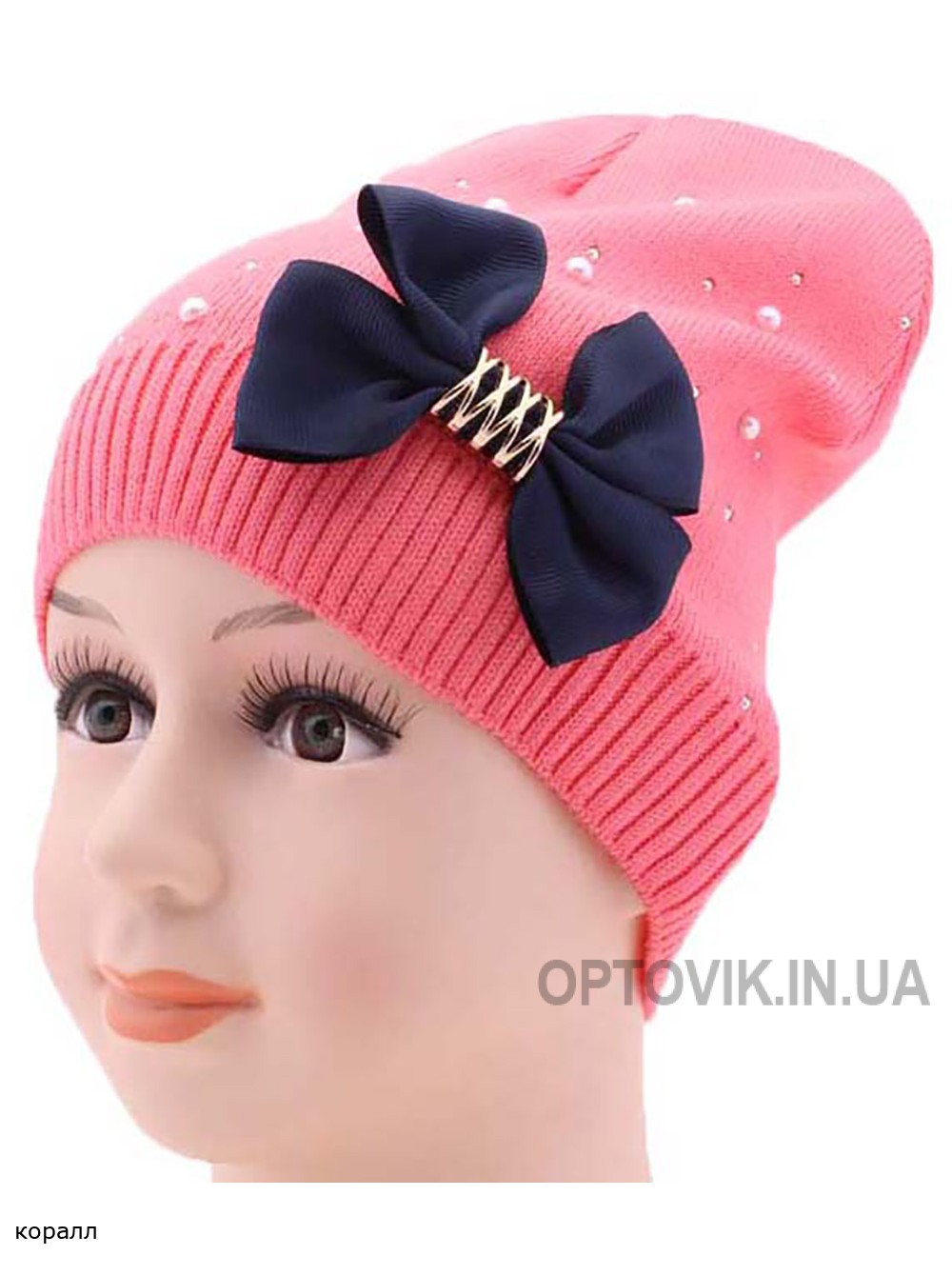 Детская вязаная шапка Джина