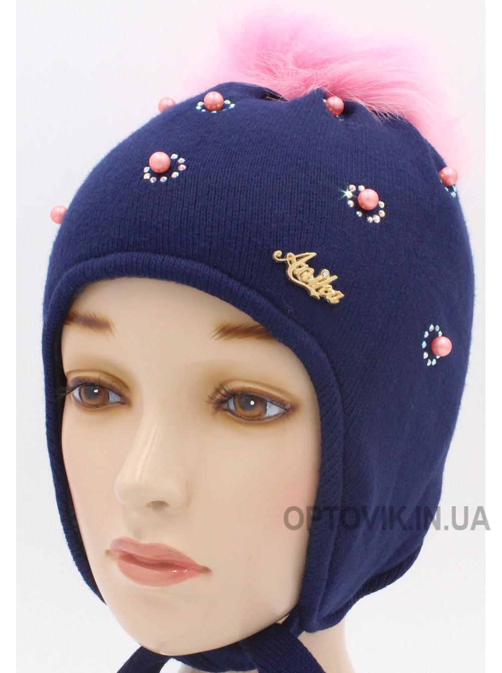 Детская вязаная шапка Полина