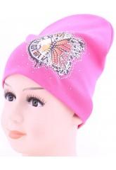 Детская трикотажная шапка Часики