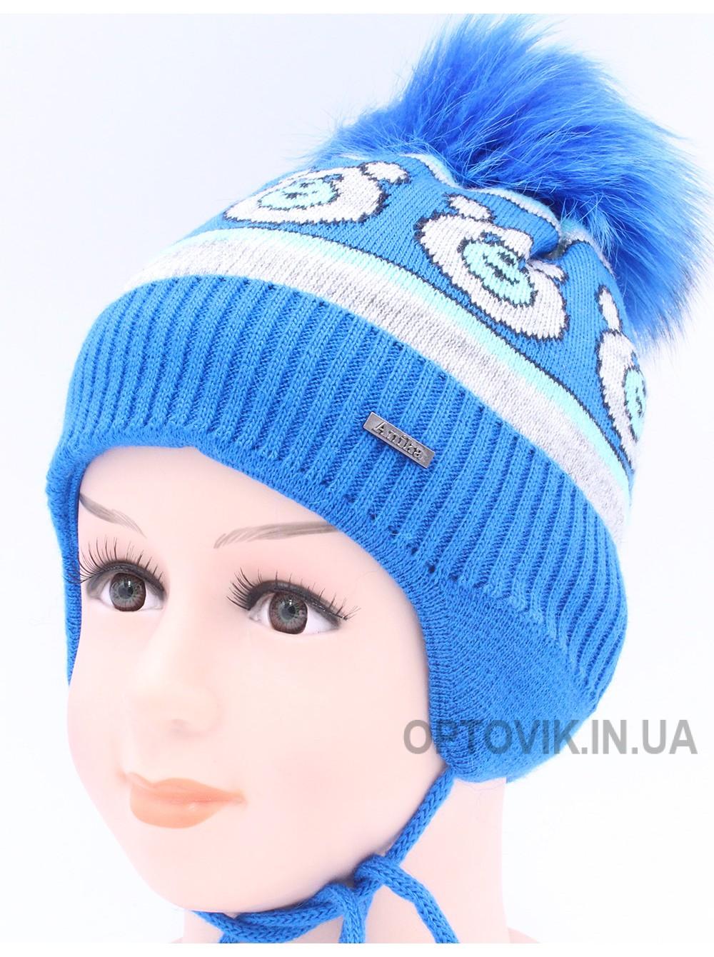 Детская вязаная шапка Мишка An