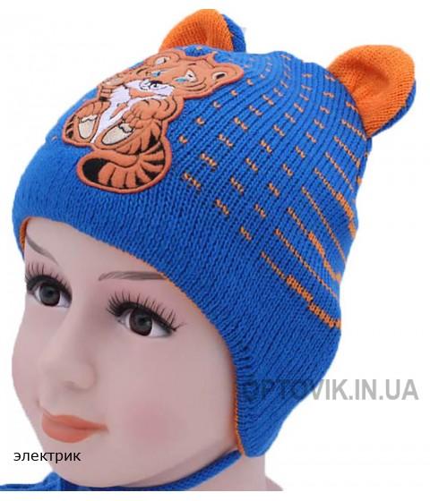 Детская вязаная шапка Тигрюля