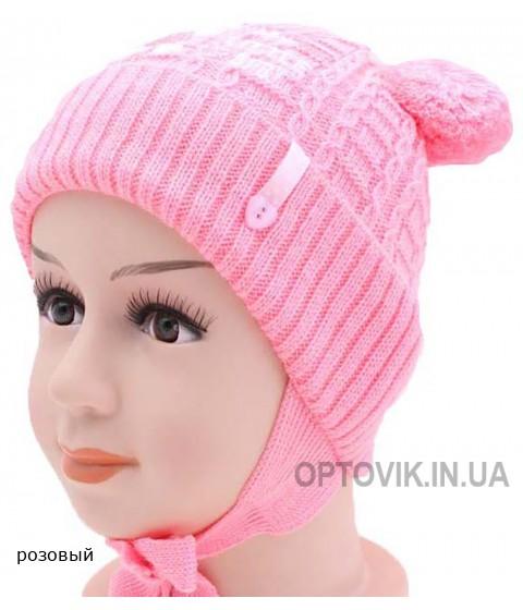Детская вязаная шапка 116624-44-46