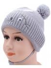 Детская вязаная шапка 125324-42-44