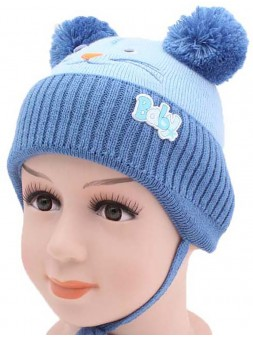 Детская вязаная шапка 125424-42-44