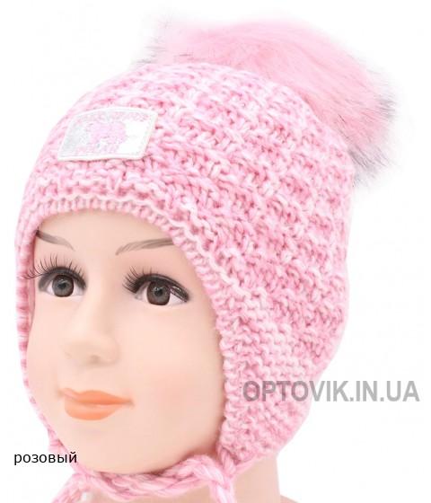 Детская вязаная шапка Алиса D50535-46-50