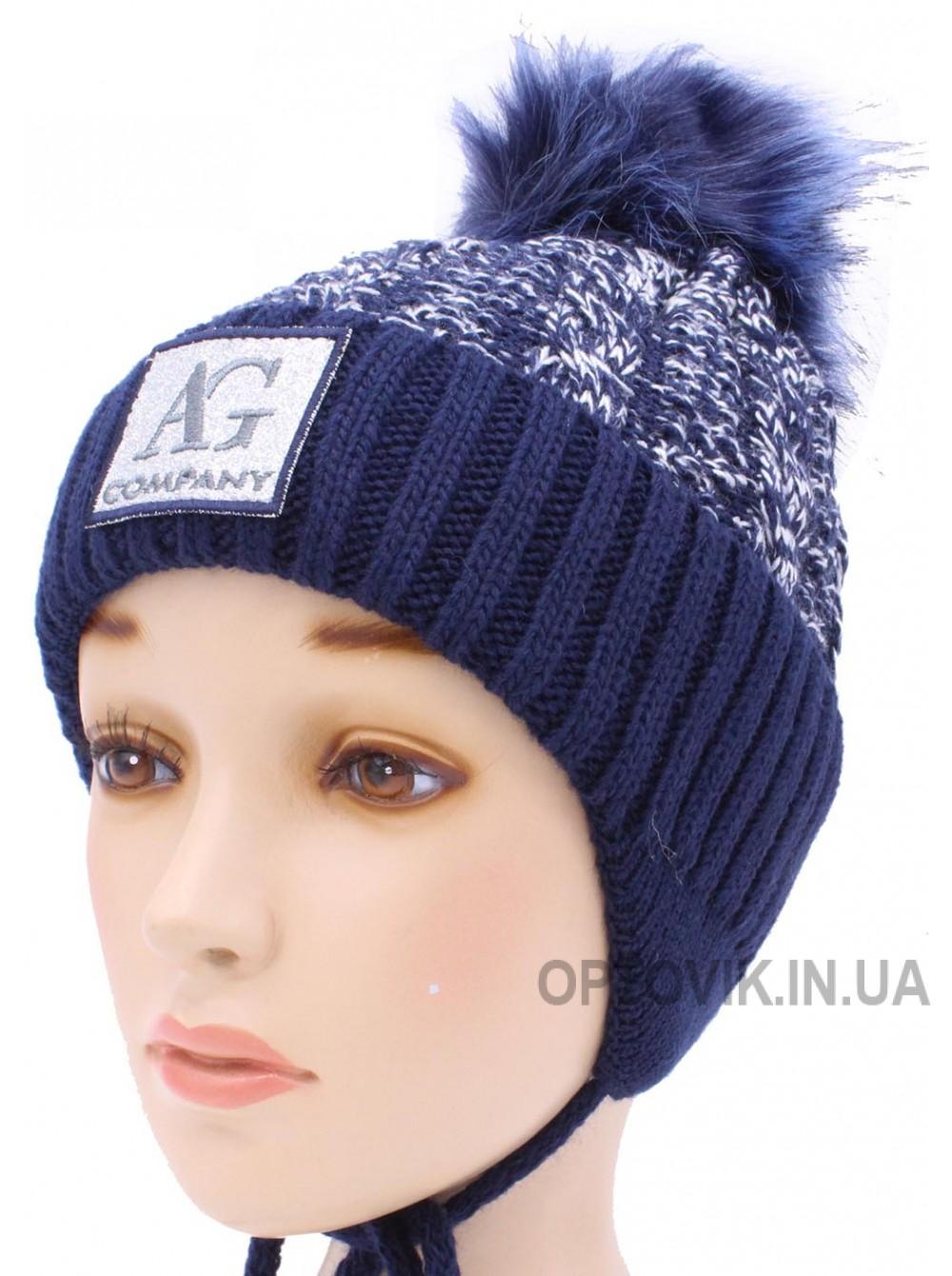 Детская вязаная шапка Блеск D50932-48-52