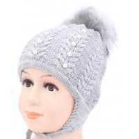 Детская вязаная шапка Бусинка D53334-46-50
