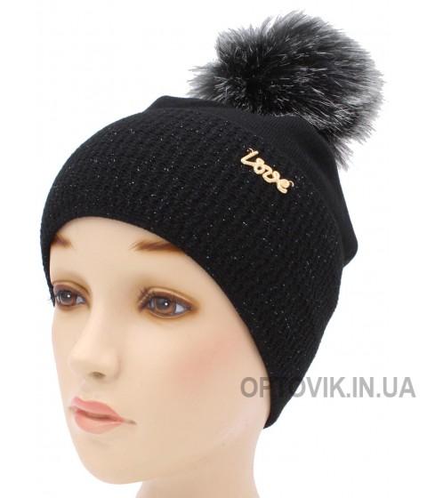 Детская вязаная шапка Ванесса W30533-52-56