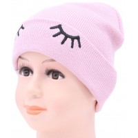 Детская вязаная шапка Глазки D55729-46-50