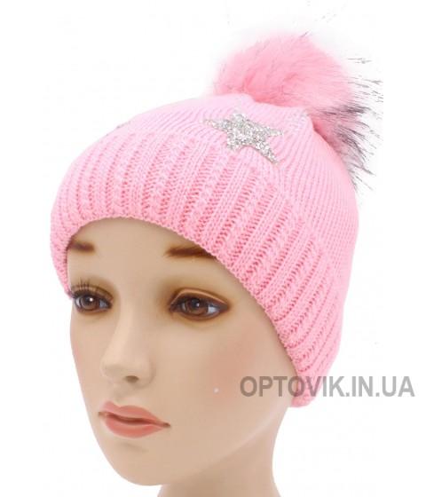 Детская вязаная шапка Звездопад D54534-46-50