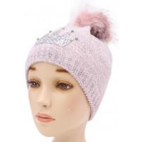 Детская вязаная шапка Корона D54633-46-50