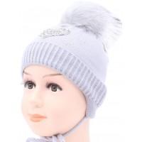 Детская вязаная шапка Лав D54130-44-46