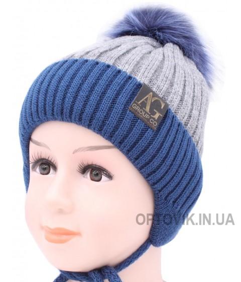 Детская вязаная шапка Бейсбол D51133-48-52