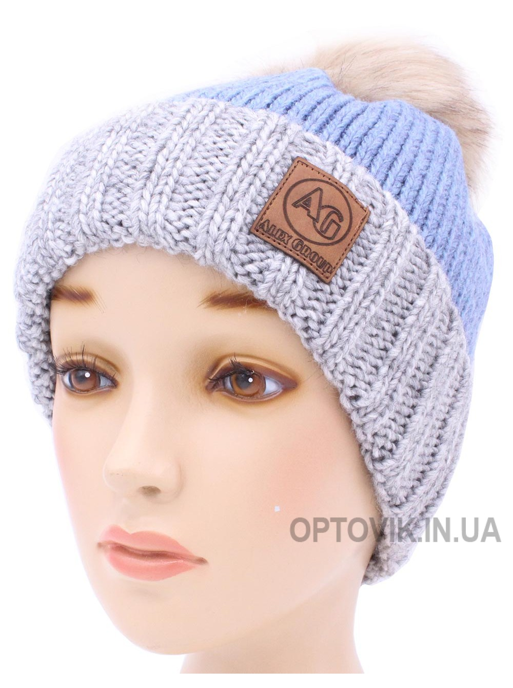 Детская вязаная шапка Николас D53532-50-54