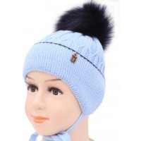 Детская вязаная шапка S87-27-28-48-50