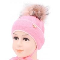 Детская вязаная шапка S97-24-28-46-48