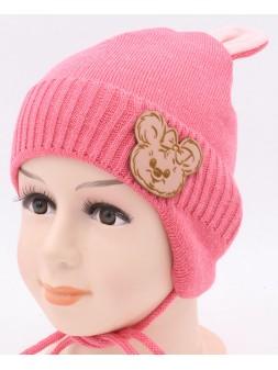 Детская вязаная шапка Диана