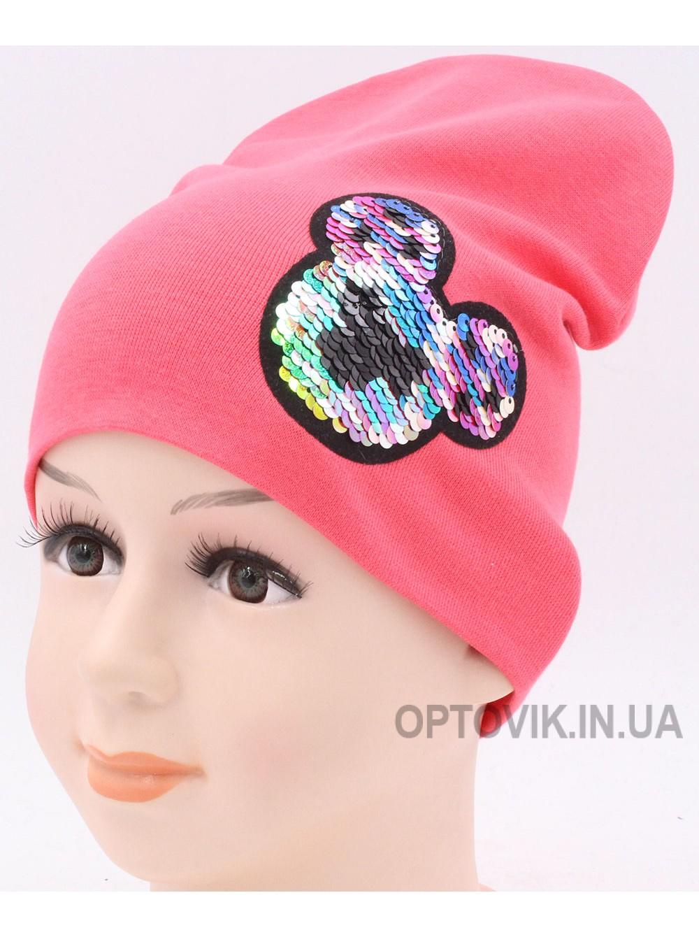Детская трикотажная шапка Пайетка