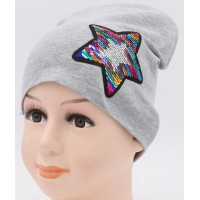 Детская трикотажная шапка Пайетка Звезда