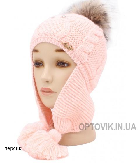 Детская вязаная шапка Сова F-67d-67-54-56