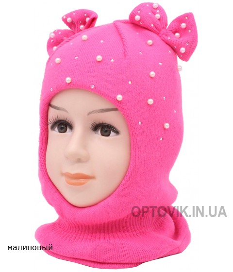 Детский вязаный Шлем Линда W-4d-46-48