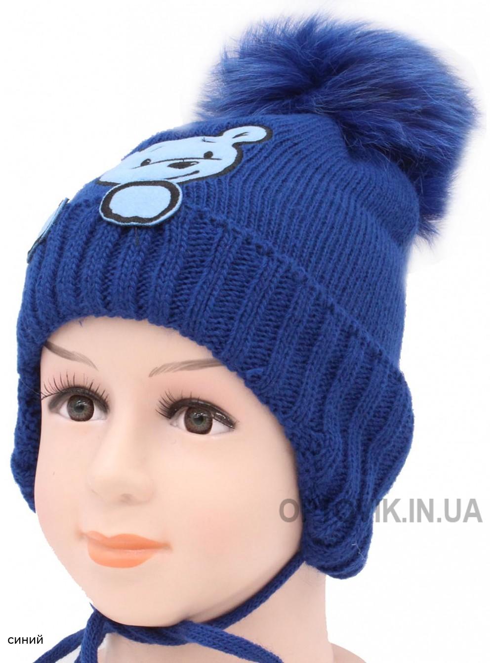 Детская вязаная шапка Балу F-65m-41-44-46
