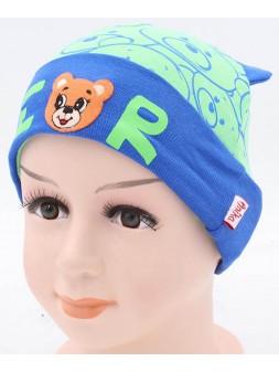 Детская трикотажная шапка Мишка