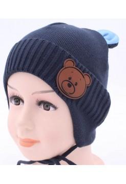 Детская вязаная шапка Тёма