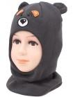 Детский вязаный шлем Мишка W-2m-46-48-50