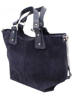 Женская модельная сумка Celine кожзам+замш 42х30х15 - Ci102-143