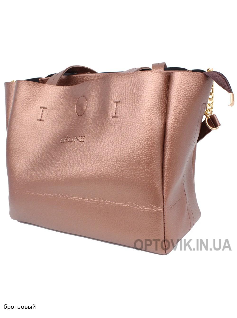 Женская модельная сумка Celine кожзам 32х26х17 - Ci101-125
