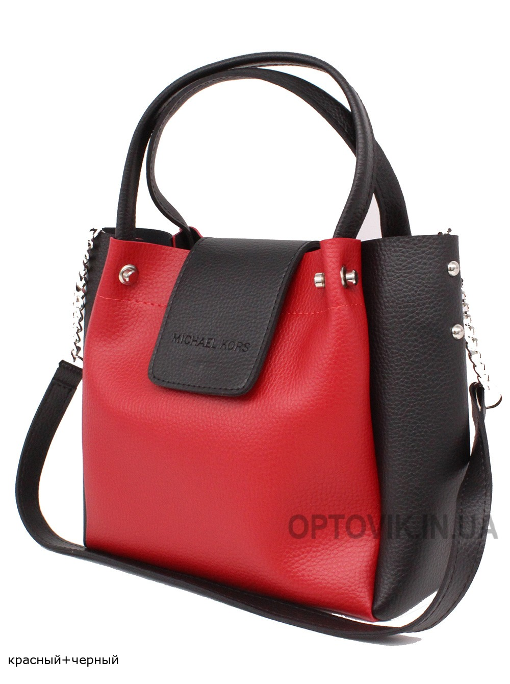 Женская модельная сумка Michael Kors кожзам 26х23х11 - Mi103-104
