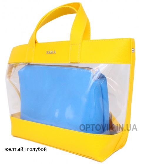Женская модельная сумка Zara кожзам 40х26х12 - Za105-117
