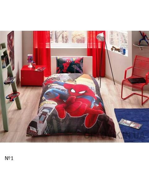 Комплект постельного белья Tac Disney Spiderman in city №14226
