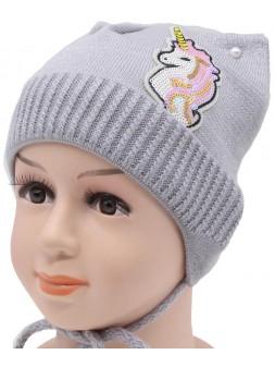Детская вязаная шапка Милашка DV10524-44-48