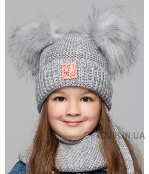 Детская вязаная шапка D628340-44-48 Долли
