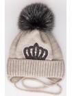 Детская вязаная шапка D642315-44-48 Принцесса