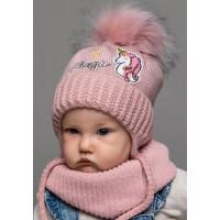Детская вязаная шапка D659295-44-48 Милашка