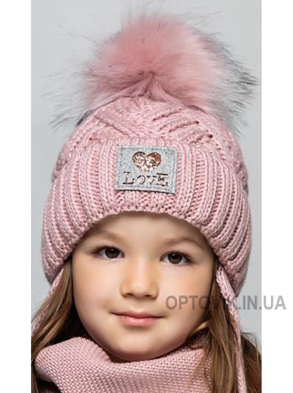 Детская вязаная шапка D673305-46-50 Оливия